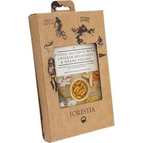 Forestia Heater Comida Outdoor Carne 350g, Fusili all'Uovo with Chicken Bolognese and Grana Padano